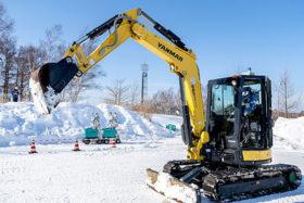 道央道輪厚PAで5G除雪車遠隔操作実験