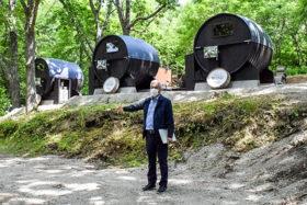 「十勝まきばの家」に国内初の大型ワイン樽サウナ 池田町