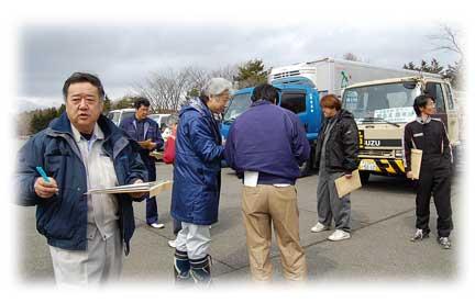 道建協が岩手県に支援物資を輸送した