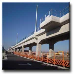 完成間もない鉄道高架